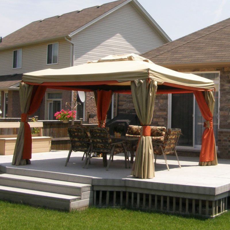 Rona 10 X 12 Etna Gazebo Replacement Canopy Garden Winds Canada Gazebo Replacement Canopy Gazebo Pergola Canopy