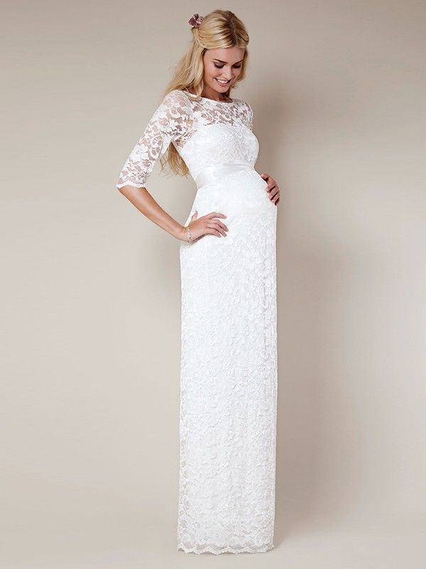 c877c5abf0cc Slida/Kolumn Scoop Floor-length Halv Ärm Lace Wedding Dresses ...