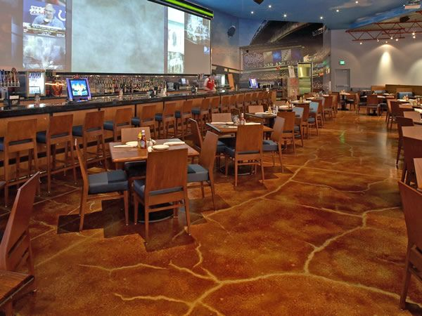 Restaurant Kitchen Flooring Options stained concrete floor | restaurant floor pictures- photos and