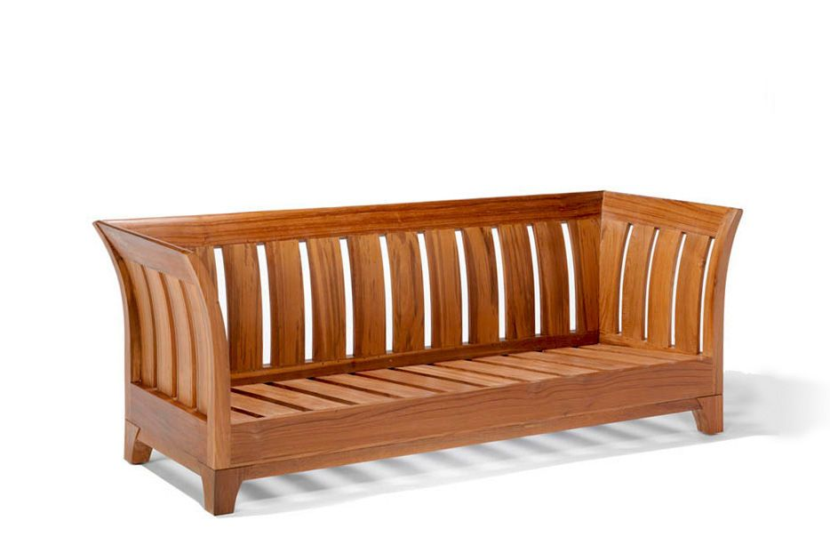 The Karmin Sofa Without Cushion Shows Solid Wood Slats Backrest Ans Seat Wooden Couch Teak Sofa Wooden Sofa