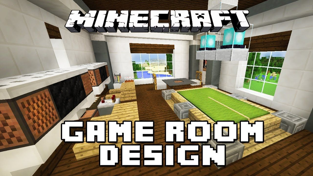 Minecraft Tutorial How To Make Furniture For A Game Room Modern House Build Ep 28 Minecraft Modern Minecraft House Designs Minecraft House Tutorials