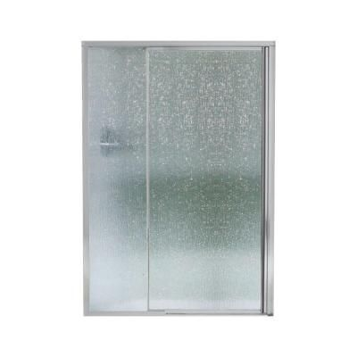 STERLING Vista II 48 in. x 65-1/2 in. Framed Pivot Shower Door in Silver with Rain Glass Texture-SP1506D-48S - The Home Depot