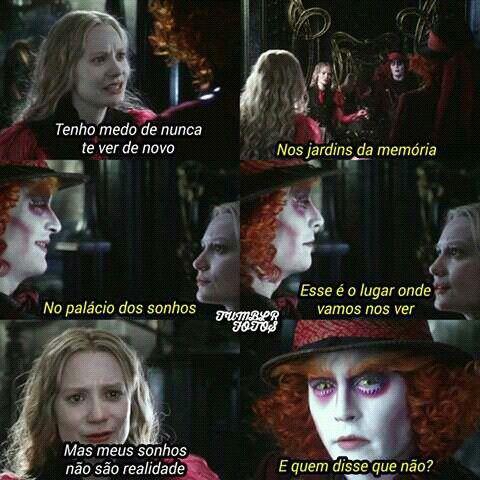 Alice Através Do Espelho Alice Wonderland Frases Movies E Alice