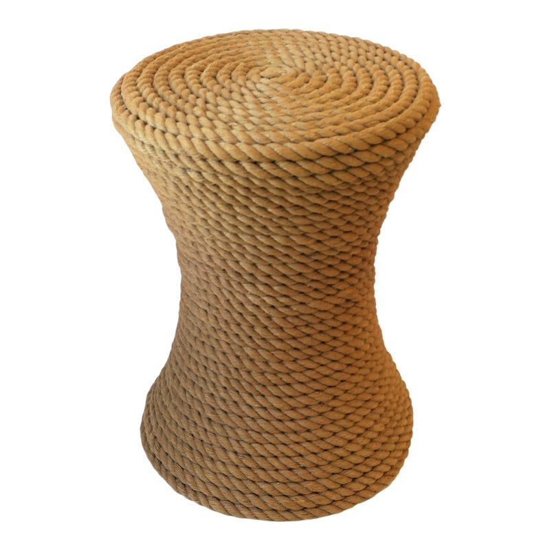 Nautical Rope Round Side Or End Table Nautical Rope End Tables