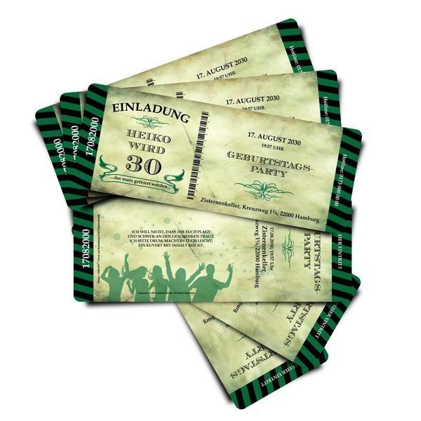 einladungskarten - einladung zum geburtstag - kartennummer