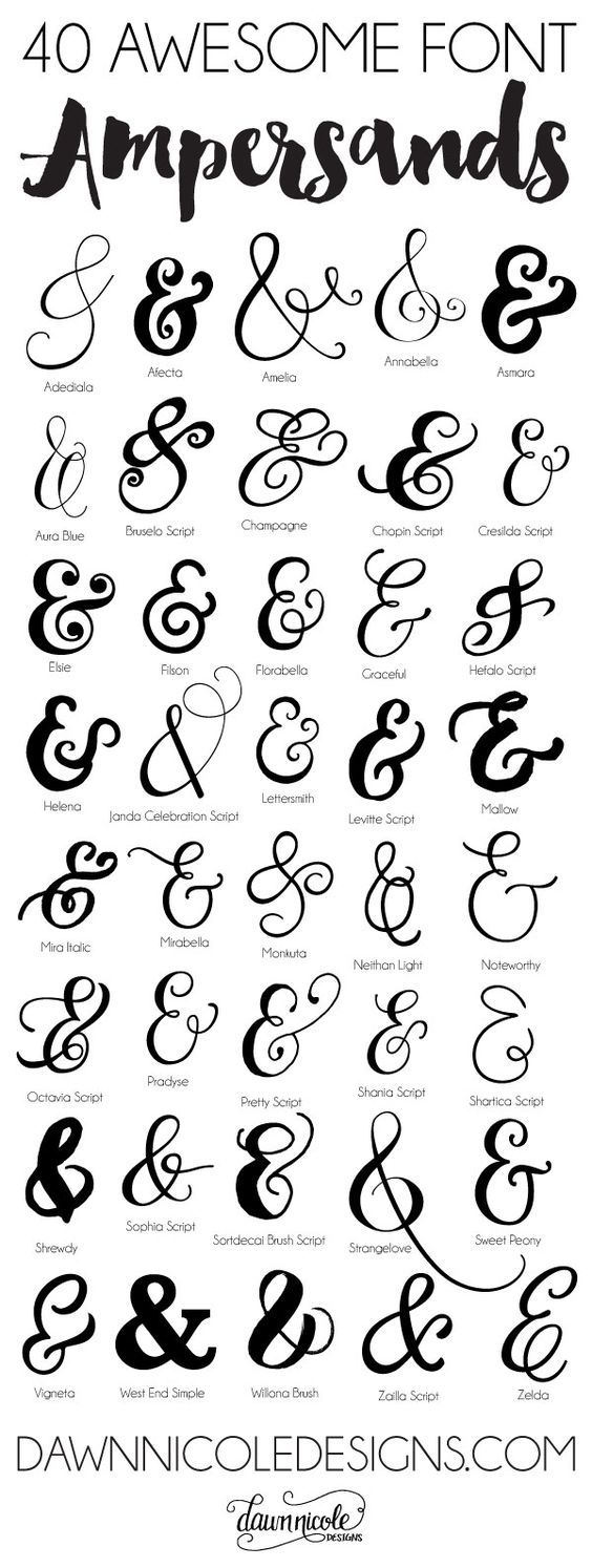 40 Awesome Font Ampersands