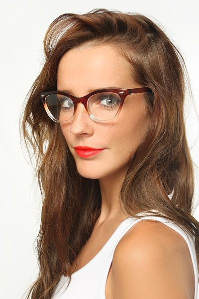 Emma Gradient Frame Cat Eye Clear Glasses Brown 1029 2 Black Eyeglasses Frames Clear Glasses Glasses Fashion