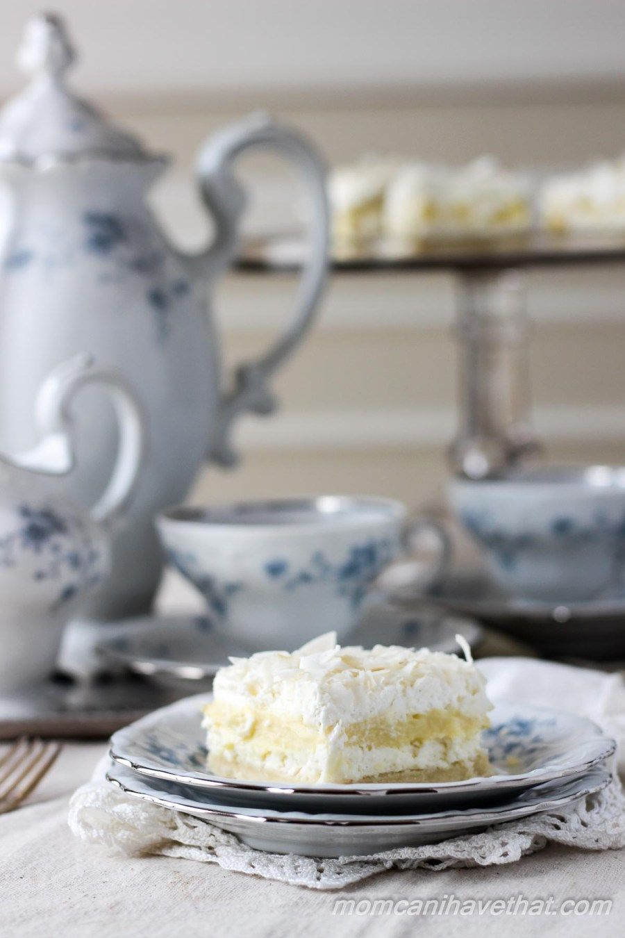 Coconut cream layered dream is made from wholesome