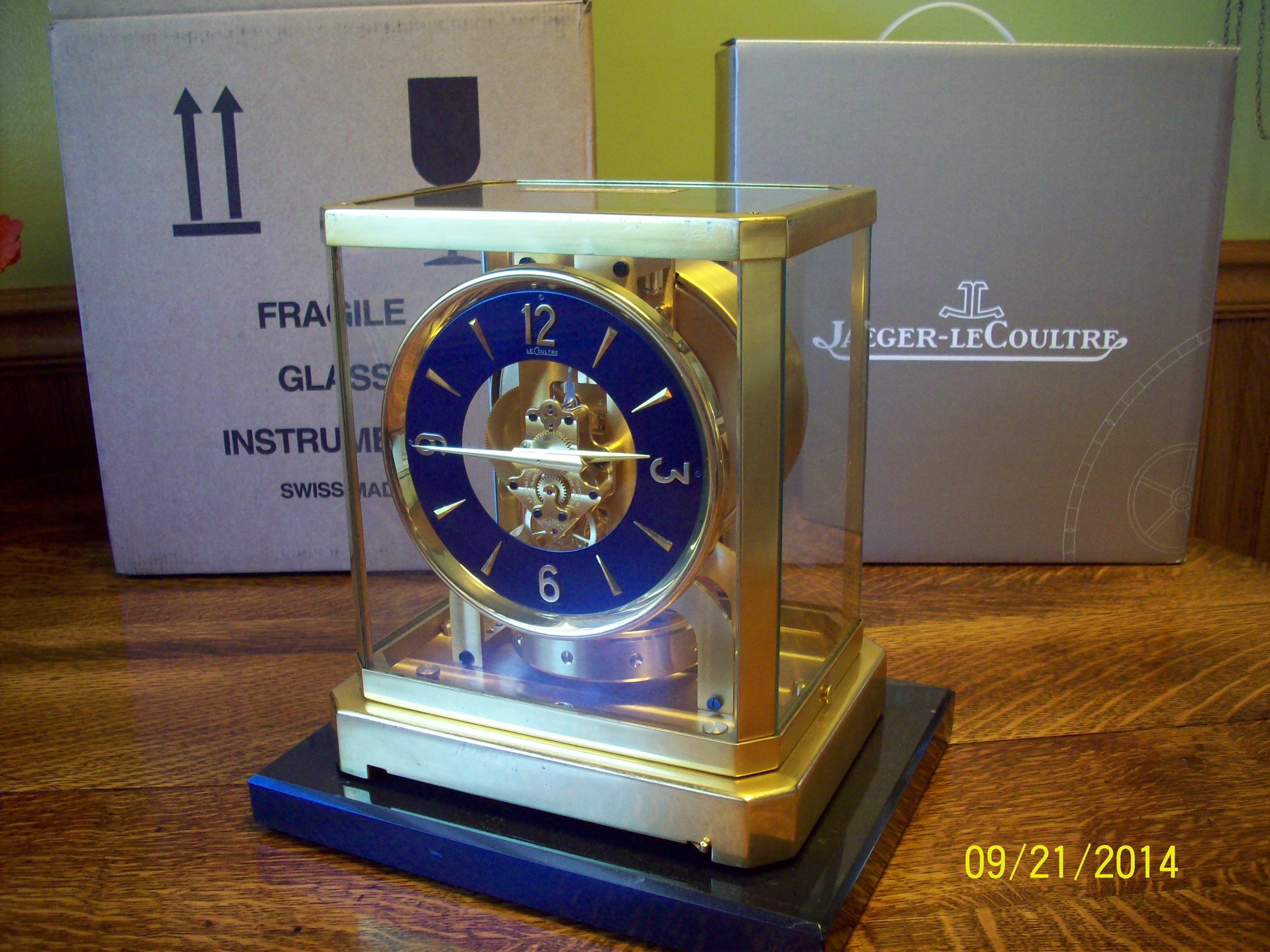 f61a9ef6d7d Here is a 519 Jaeger LeCoultre Atmos Clock with our Lapis Dial. WOOO WOOO.