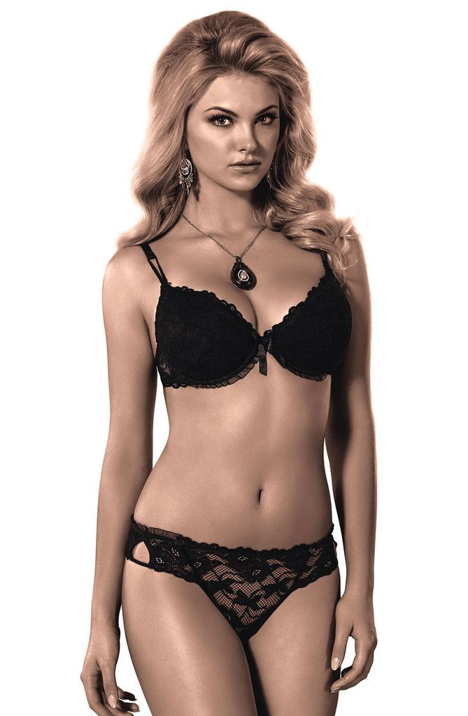 2769951df2646 Roza Carmen Black Push Up Bra - Charm and Lace Lingerie Boutique