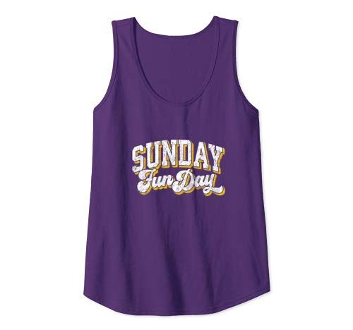 Vintage Sunday Funday Minnesota Football Retro Fun Day Tank Top #crochettanktops