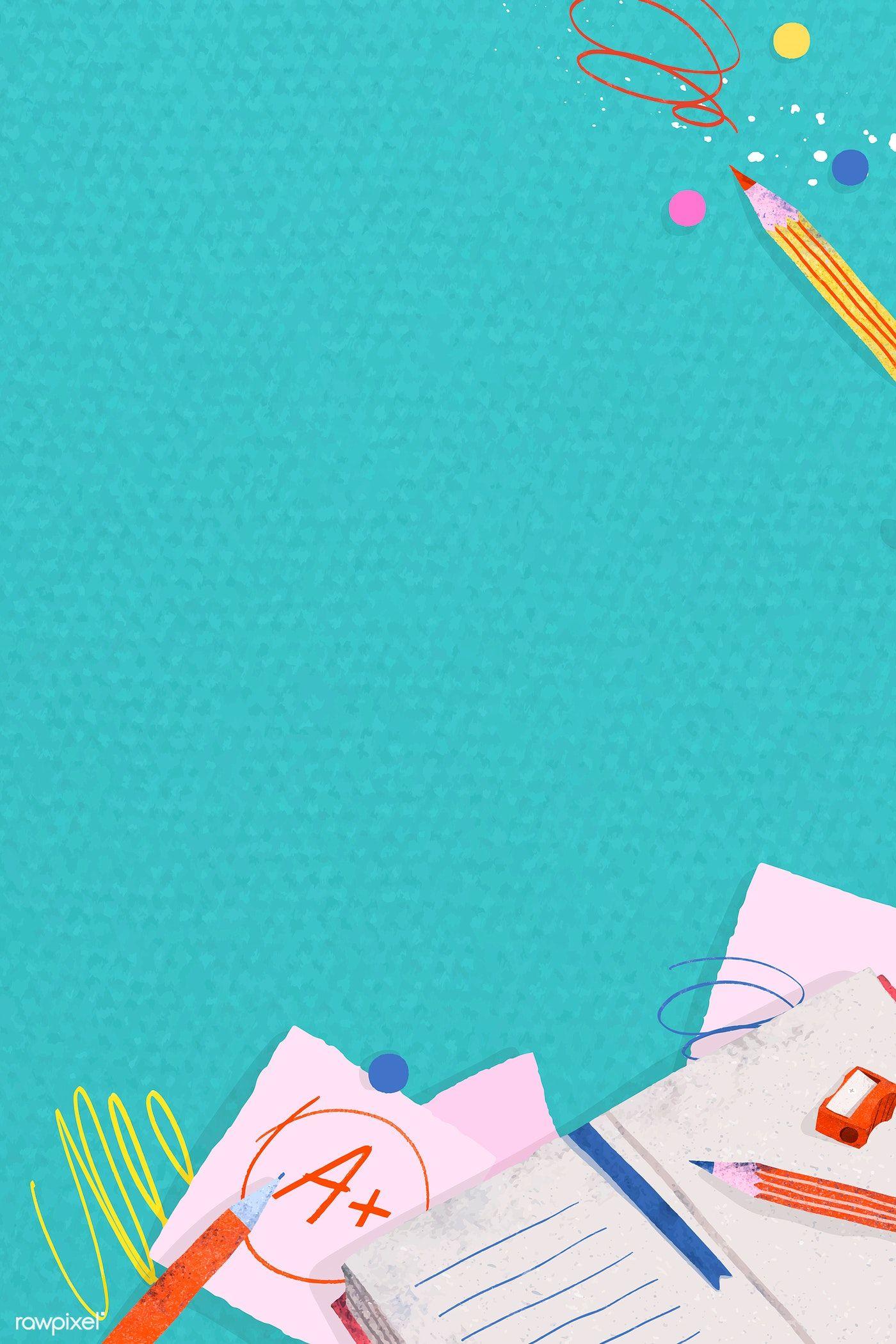 Download Premium Vector Of Green Back To School Frame Vector 1224935 School Frame Back To School Wallpaper School Posters