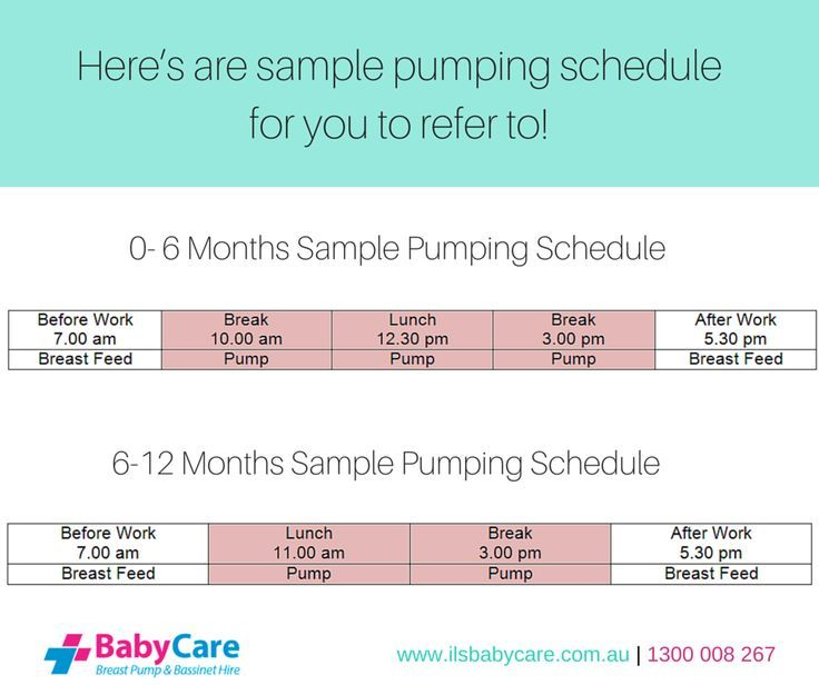 The Secret for Sore Nipples When Breastfeeding Parents - work schedule
