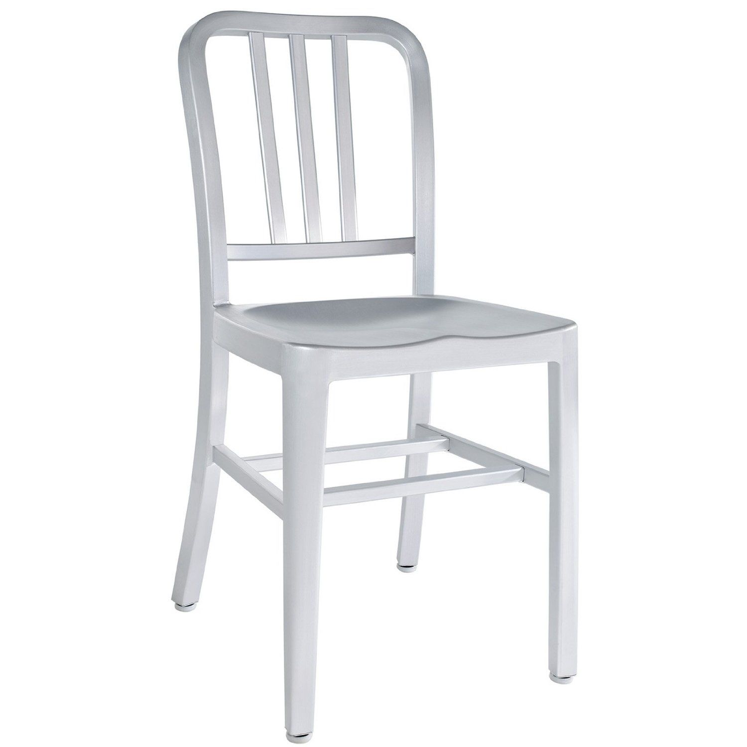 Amazon.com   LexMod Sailor Modern Cafe Side Chair In Brushed Aluminum