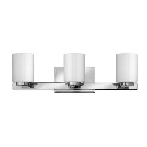 Hinkley miley chrome three light bath fixture light bathroombathroom vanity lightingbath