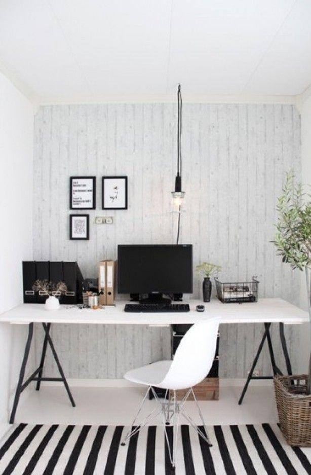 Ikea Bureau Zwart Wit.Maak Zelf Een Bureau Met Schragen Van Ikea Interior And