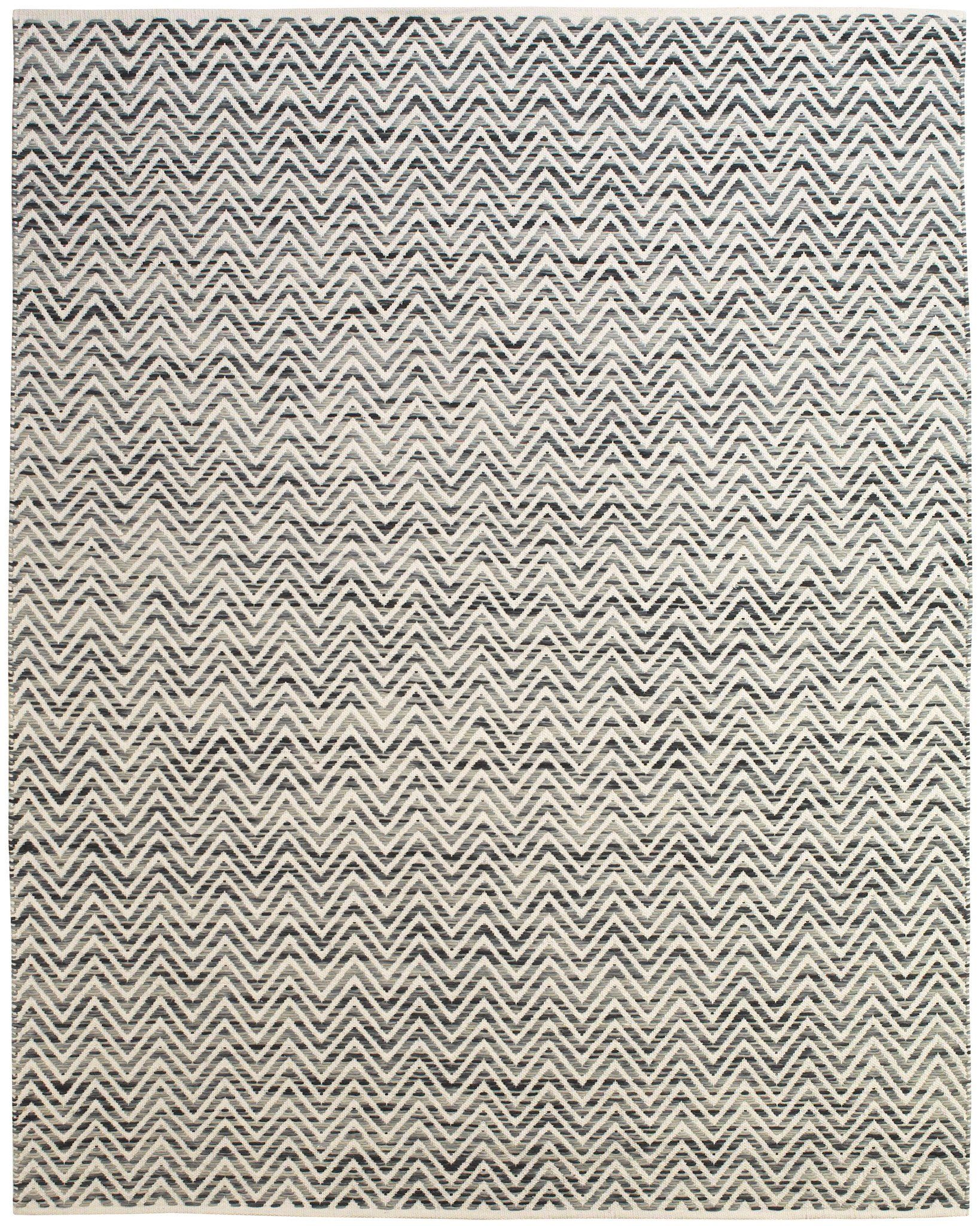 Gobi Collection Flat Weave Dhurrie Area Rug In Dark Blue And Gray By B