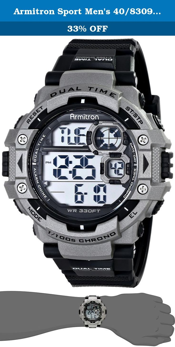 Armitron Sport Men's 40/8309GRY Sport Watch. Display