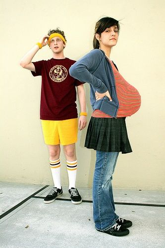 Juno and Bleaker- me and abe did this our first Halloween together - pregnant couple halloween costume ideas