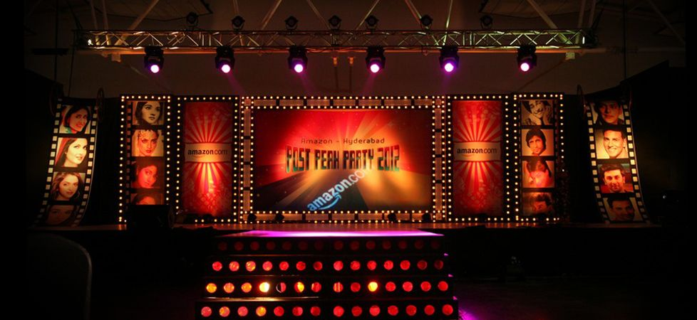 Retro theme stage decoration for Annual function decoration