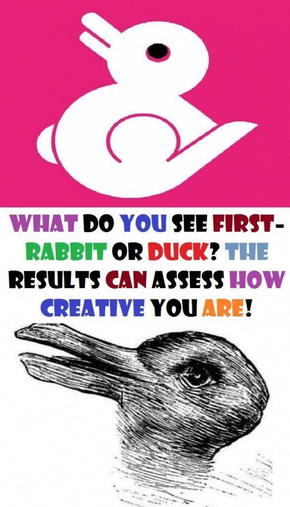 What Do You See First Rabbit Or Duck The Results Can Assess How Creative…