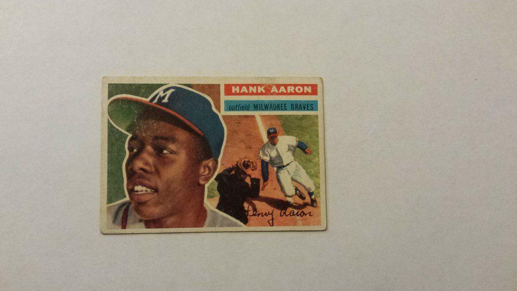 1956 topps hank aaron single baseball card baseball