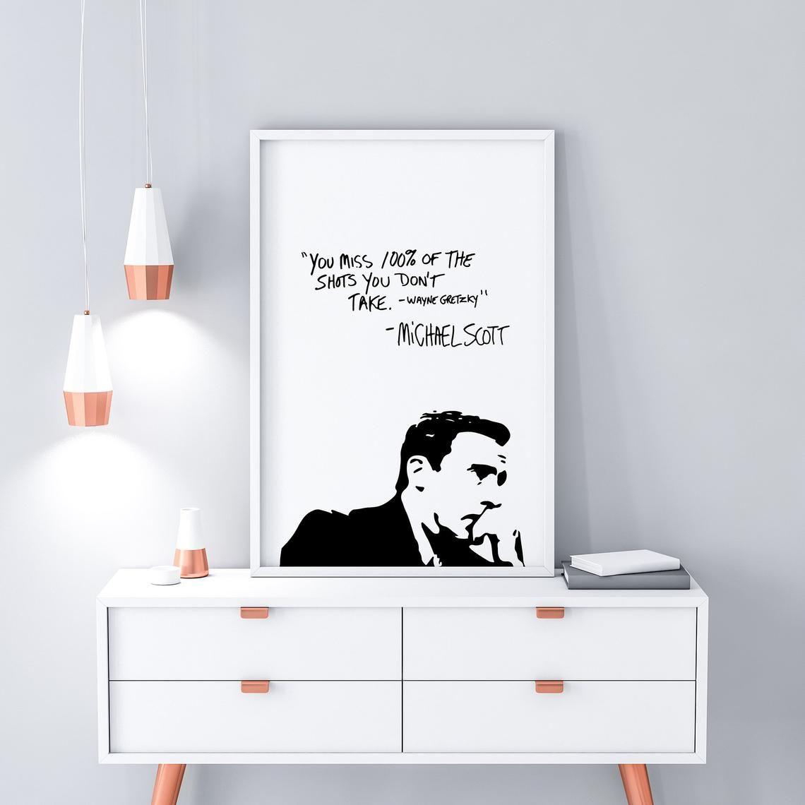 Michael Scott You Miss / The Office TV Show Dorm Decor