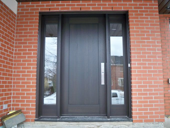contemporary front door side panels - Google Search ...