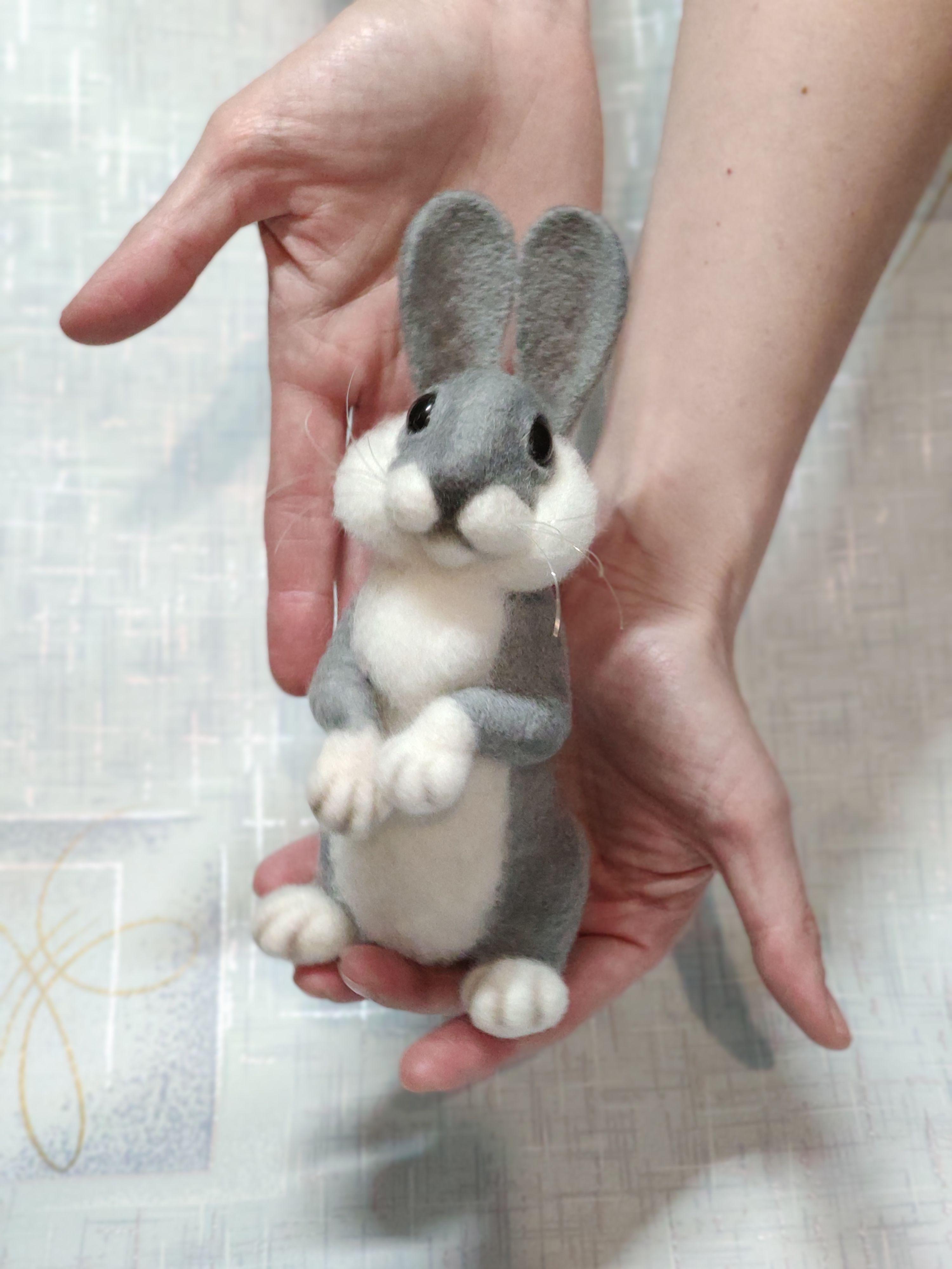 Needle felted rabbitbunny.
