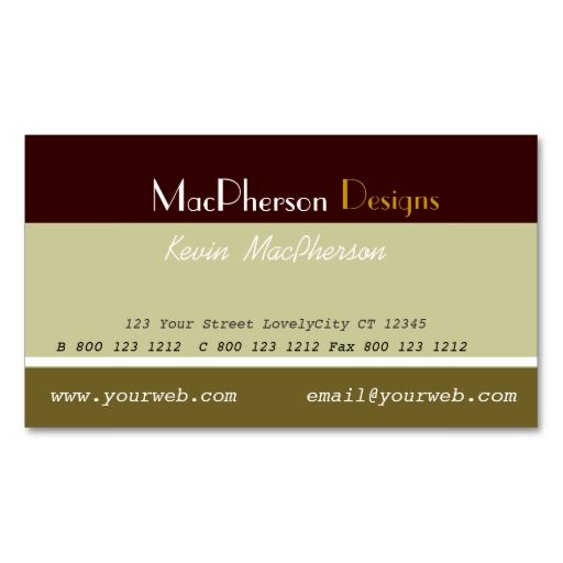 Business Masculine Designer Card Make Your Own With This Great Design