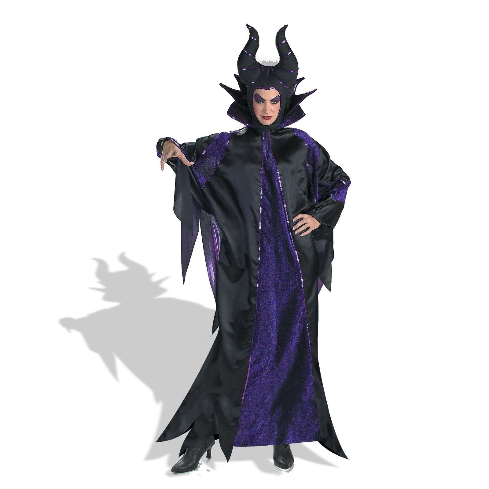 Maleficent Costume Adult Disney Wicked Halloween Fancy Dress