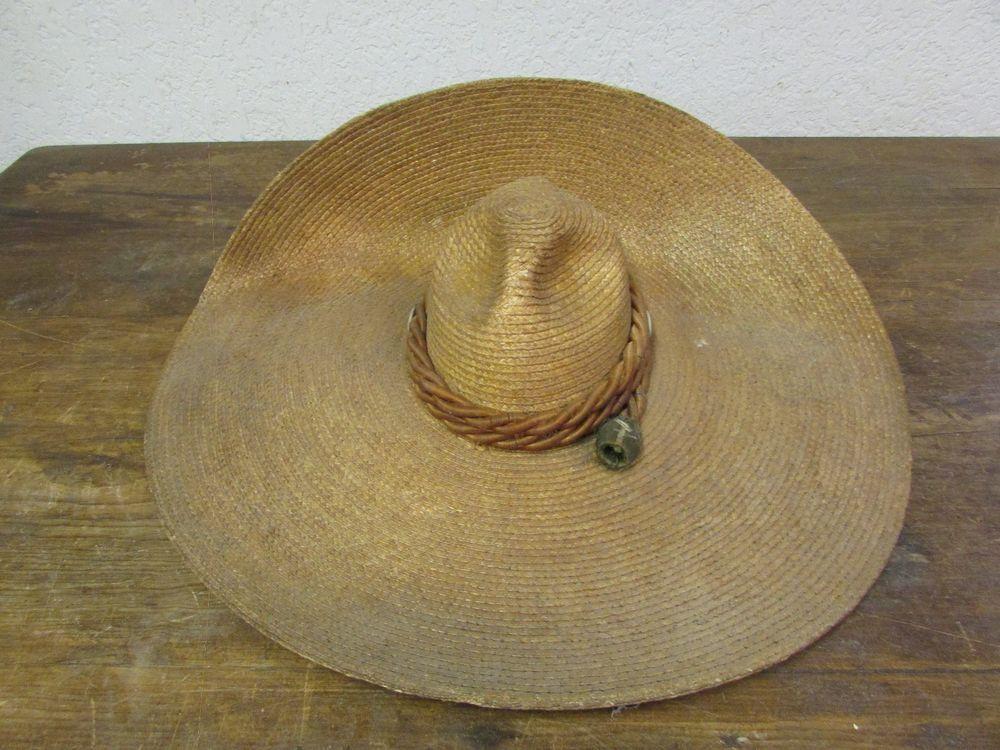 1bc2887b Antique Vaquero Sombrero #2-Old Mexican-Western-Rustic-Cowboy-Vintage-Hat