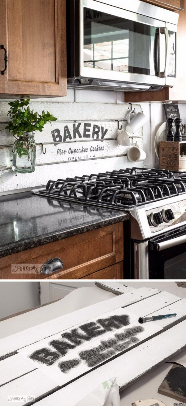 25+ Frugal and Creative Kitchen Backsplash DIY Projects Pallet