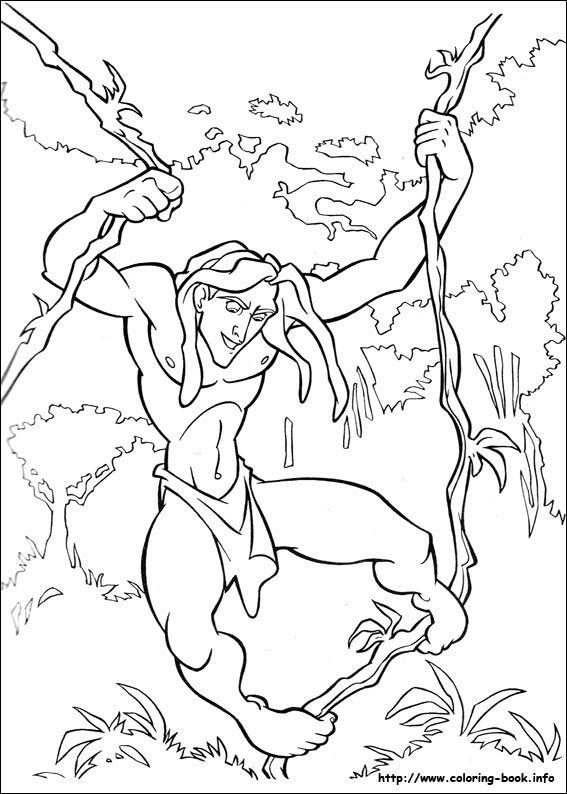 Tarzan coloring picture Coloring for kid Pinterest Tarzan
