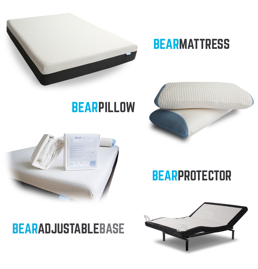 Bundle includes Bear Mattress, Bear Mattress Protector ...