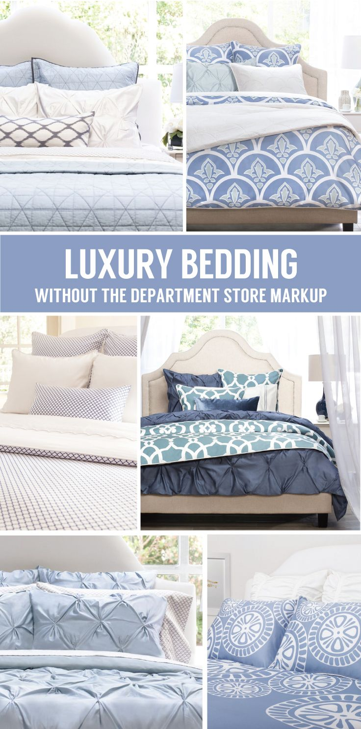 From luxury sheets to designer bedding and colorfully patterned