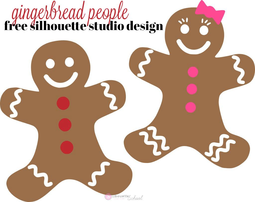 Free Gingerbread People Silhouette Studio Designs