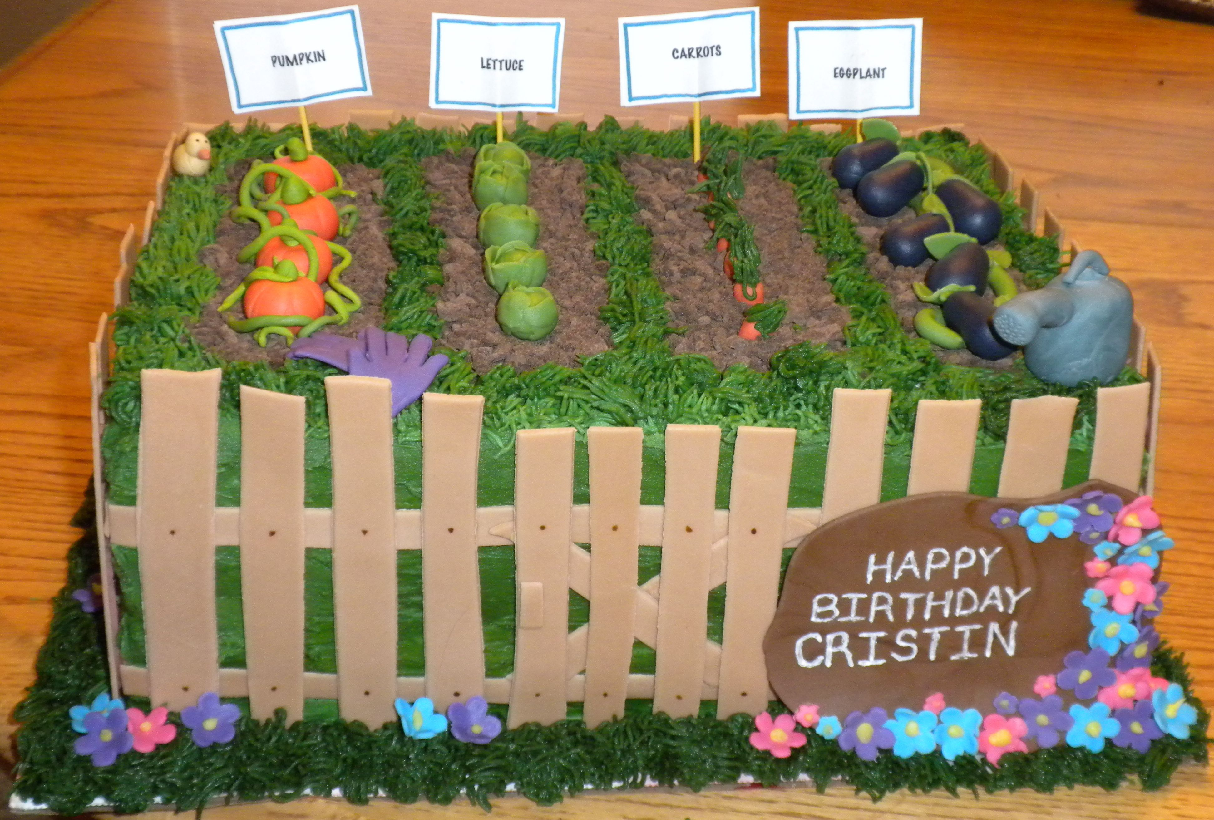 A cake made for a garden lover! | Play with your food! | Pinterest ...