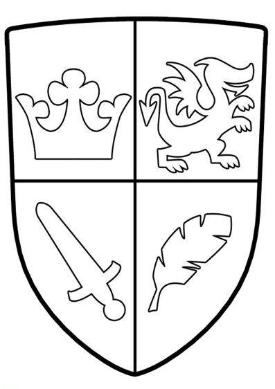 Pin von Anne N auf Ausmalbilder   Wappen vorlage