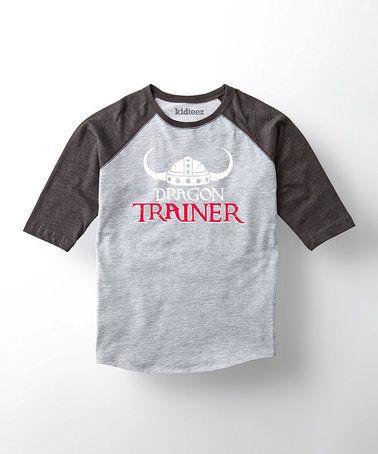 Another great find on #zulily! Athletic Heather 'Dragon Trainer' Raglan Tee - Kids #zulilyfinds