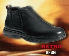 a251c04e4d3 Redback - Retro, slip on black nappa Retro Chef Boot   Redback Boots ...