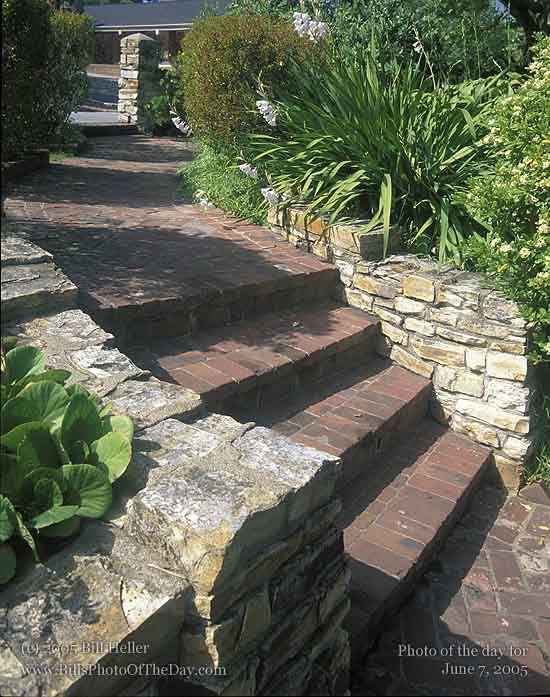 Escaleras exteriores de obra buscar con google jardines pinterest buscar con google - Escaleras para jardin ...
