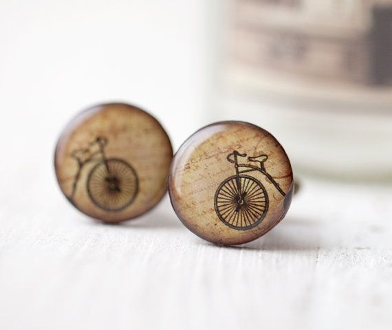 skvele!!!! Retro Bicycle Cufflinks  Men cufflinks