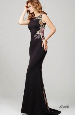 2ceb7caed3 black floral fitted dress