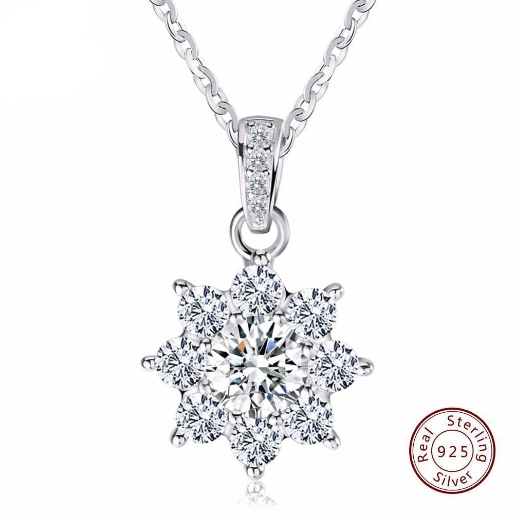 Singapore Twisted Sparkle Chain Necklace Rhodium Real Sterling Silver 925