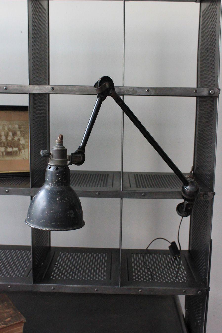 lampadaire industriel ancien