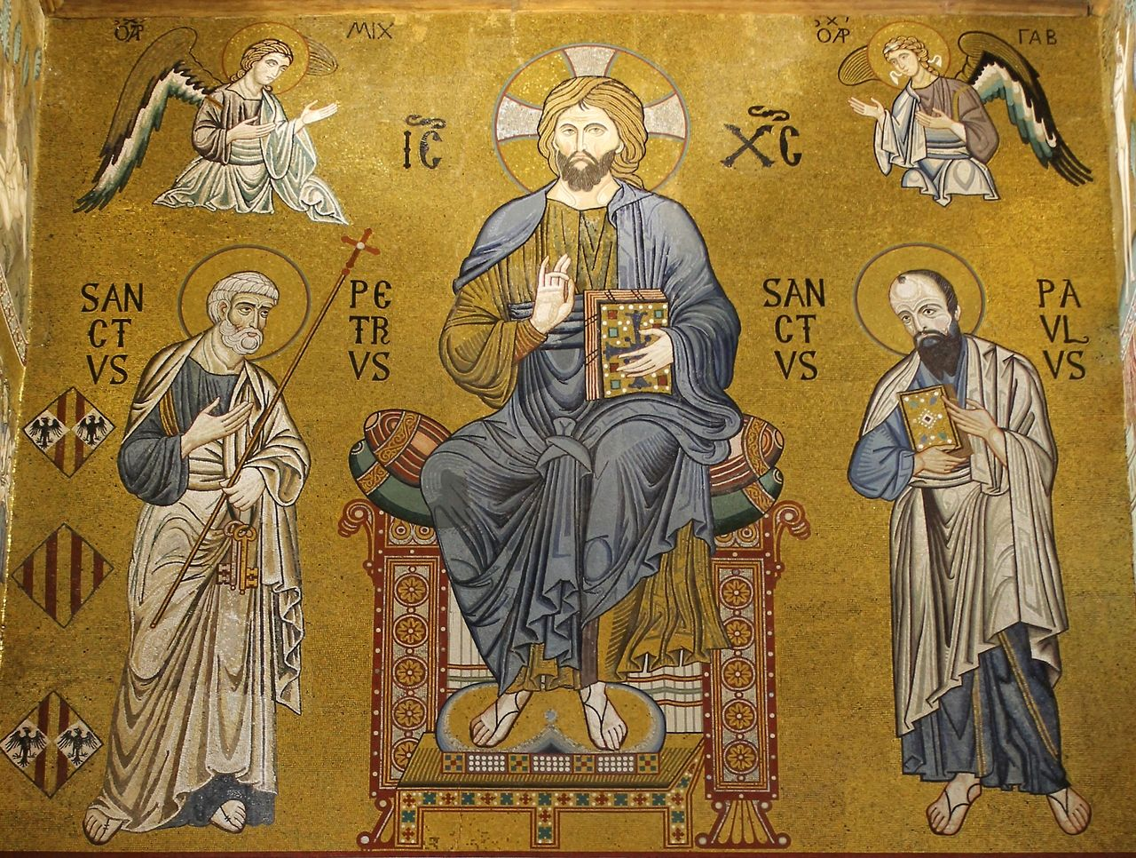 Image result for mosaic icon saints peter and paul