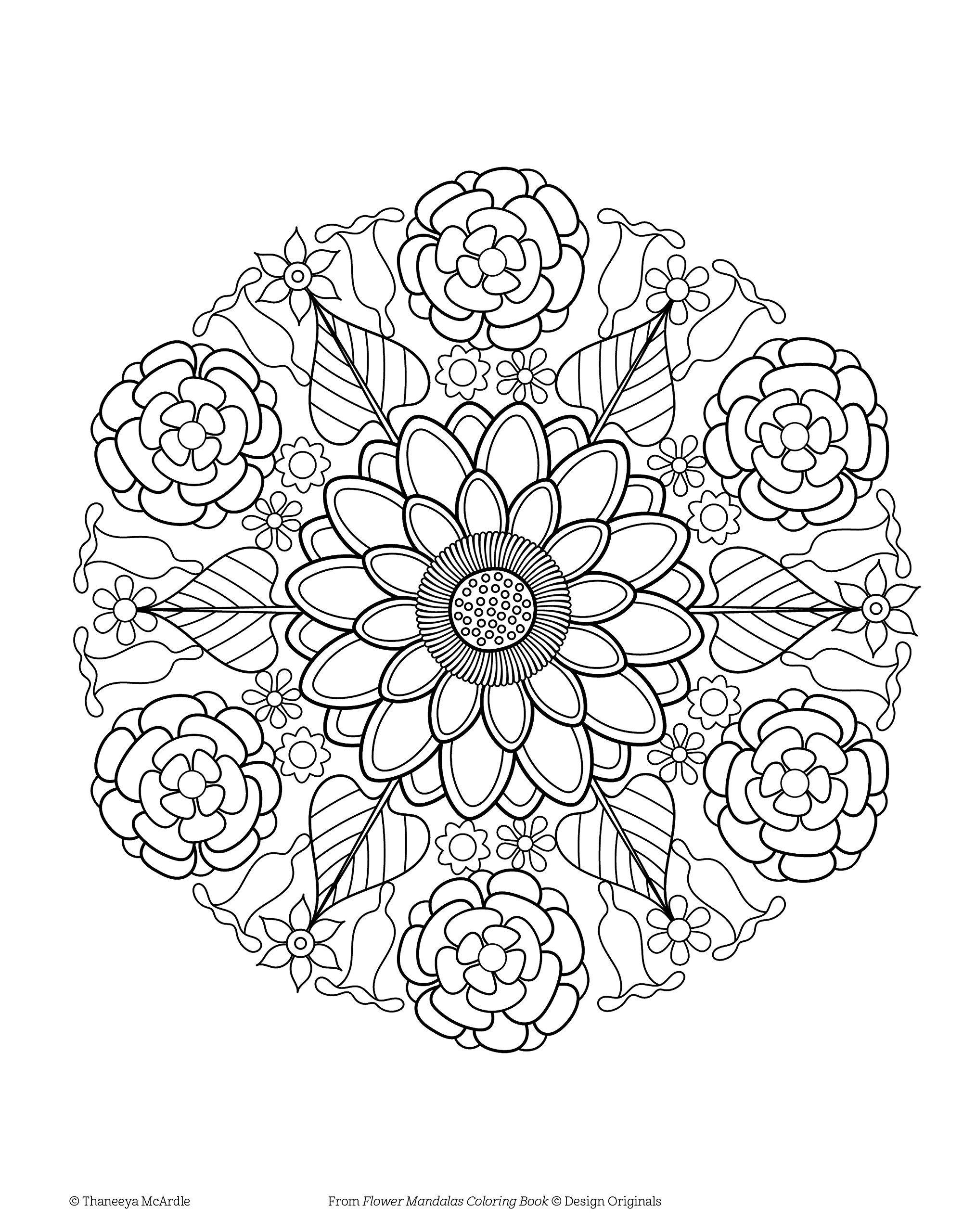 Flower Mandalas Coloring Book Design Originals 30 Beginner Friendly Mandala Coloring Books Mandala Flower Design Mandala Coloring