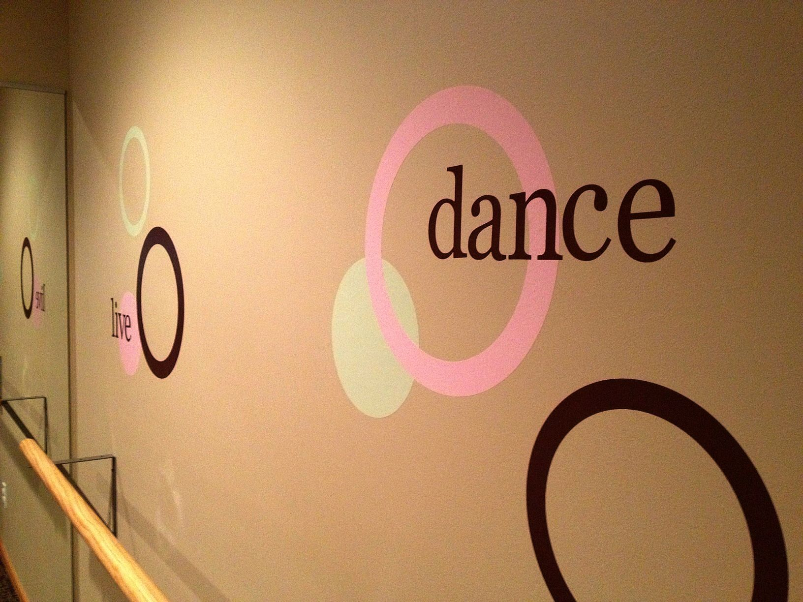 Wall Pops for a home dance studio from #shopko maybe some verses ...