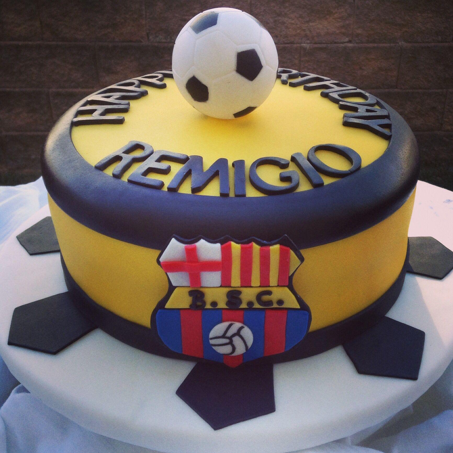 Barcelona Fondant Cake!!! BSC
